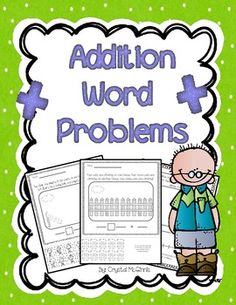 This pack gives you 10 addition word problems for students to solve. Five of the word problems give students the opportunity to cut out pictures and glue them to match the problem. The other five word problems let students use a number line. Students then draw pictures to match the given word problem.