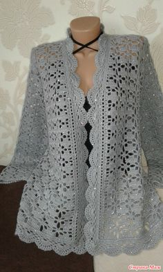 Cute and Awesome Crochet Top Patterns and Design Ideas - Page 14 of 61 Crochet Bolero, Crochet Tunic Pattern, Pull Crochet, Gilet Crochet, Crochet Coat, Crochet Cardigan Pattern, Crochet Jacket, Crochet Blouse, Cotton Crochet