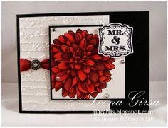 A La Cards: Blended Dahlia Wedding