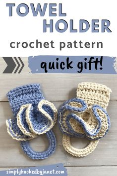 This easy crochet towel holder pattern is a great stash busting pattern. Use up those leftover balls of yarn in your stash. This towel ring can also make for a quick last-minute gift any time of the year. A crochet pattern by Simply Hooked by Janet | #crochet #summercrochet #crochetgift Crochet Towel Tops, Crochet Towel Holders, Crochet Kitchen Towels, Crochet For Boys, Crochet Home, Crochet Yarn, Free Crochet, Crochet Christmas Gifts, Crochet Gifts