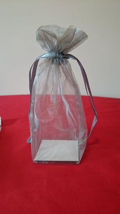 140 Silver Organza Box Bottom Favor Bags #2102522 | Wedding Decorations on Sale at Tradesy