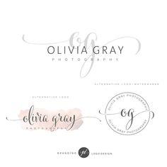 Fotografie-Logo verpacken vorgefertigten Initialen Branding