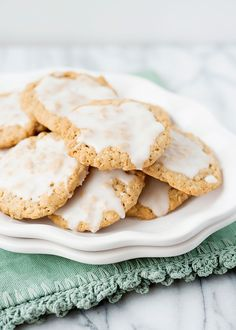 Baked Bree | Iced Oatmeal Cookies [Week 2 of 12 Weeks of Christmas Treats]