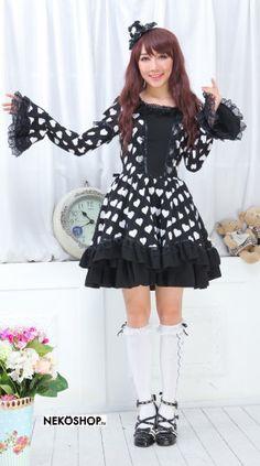Платье в стиле лолита со шляпкой Gardin bk