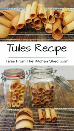 Tuiles Recipe – Tales From The Kitchen Shed – Delicious Recipes Tuiles Recipe, Egg White Recipes, Cookie Recipes, Dessert Recipes, Egg Desserts, British Baking, Biscuit Cookies, Wafer Thin, Plated Desserts