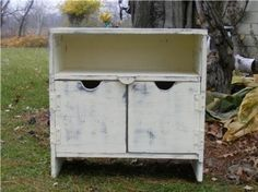 TV Cabinet Bench Book Case Primitive Antique by usacreations, $175.00