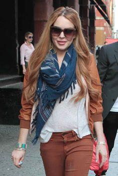 Lindsay Lohan Leather Jacket September 2017