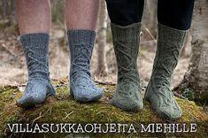 Hilppa: Villasukkaohjeita miehille Crochet Socks, Knitting Socks, Knit Crochet, Knit Socks, Knitting Ideas, Yarn Crafts, Leg Warmers, Mittens, Slippers