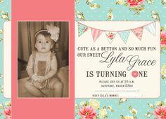 Shabby chic birthday invitation princess garden tea party baby girl shabby chic birthday invitation via etsy filmwisefo