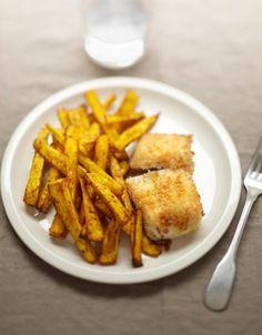 Frites de panais et poisson pané - ELLE