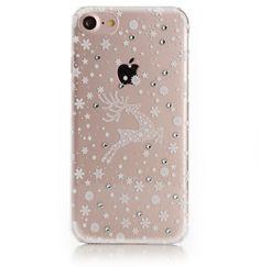 Impressly® iPhone 7 Rentier Hülle mit echten Swarovski Steinchen