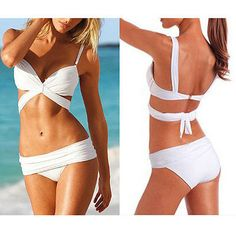 2 PCS Sexy Women Push Up Padded Swimwear Swimsuit Trikini Bikini Beachwear Sexy Bikini, Bikini Swimwear, Swimsuits, Belle Lingerie, Push Up, Bikini Shop, Hipster Pants, Victoria Secret, How To Look Skinnier