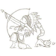Cahier de coloriage Cap Canaille Eliott l'indien - 80 pages