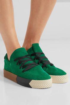 adidas Originals by Alexander Wang Green Suede Sneakers $180