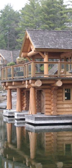 Log home handcrafted by Hirsh Log Homes