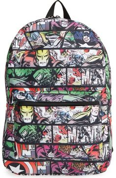 Marvel  Quick Turn Comic  Backpack (Kids) available at  Nordstrom School  Backpacks 37cb0740c2467