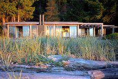 Mid-Century House: Keevil Residence. Savary Island, BC. Architect Arthur Erickson. C. 1978