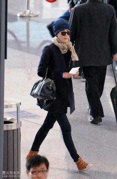 Faye Wong at the airport.