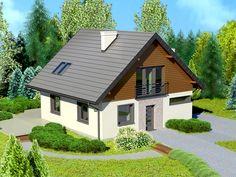 DOM.PL™ - Projekt domu Dom przy Cyprysowej 2 bis CE - DOM EB2-64 - gotowy projekt domu