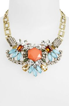 BP. Chunky Crystal Statement Necklace (Juniors) Multi One Size - B.P