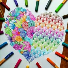We love mandalas - Colorful. More colorful. STABILO point The fineliner is available in 47 colors. Whether at work - Doodle Art Drawing, Zentangle Drawings, Mandala Drawing, Art Drawings Sketches, Zentangle Patterns, Easy Drawings, Zentangles, Zentangle Art Ideas, Patterns To Draw