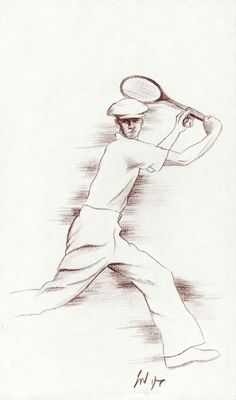 Pencil #tennis #drawing Posted on winklerart.blogspot.co.uk