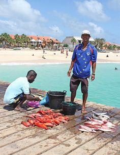 Santa Maria, Sal, Cape Verde Loved visiting the pier here & watching the amazing fish coming in off the boats & the ladies selling them .