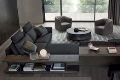 The Bristol sofa, designed by Jean-Marie Massaud for Poliform, features broad, soft and comfortable shapes and is allows for versatile living combinations. Living Room Interior, Home Living Room, Living Area, Living Room Designs, Living Room Decor, Luxury Sofa, Luxury Living, Sofa Furniture, Furniture Design