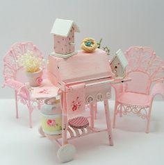 Dollhouse Miniature Robin's Nest by Memoriesnminiature on Etsy, $3.99