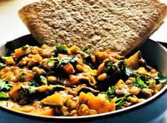 Chapati, Dahl, Chana Masala, Pot Roast, Cornbread, Vegan, Ethnic Recipes, Food, Carne Asada