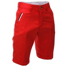 FLATSEVEN Mens Slim Fit Chino Short Pants Trouser Premium Cotton Blend (CH198S) Scarlet, Size XL FLATSEVEN http://www.amazon.com/dp/B00CSTRMZC/ref=cm_sw_r_pi_dp_28g2ub1A542AM #FLATSEVEN #Mens #Slim Fit Chino #Short  pants #Pants #Bermuda #Trouser #Premium #Cotton #Fashion