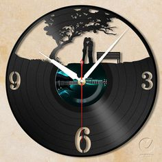 vinyl wall clock  love garden by Anantalo on Etsy, ฿1100.00