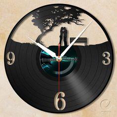 vinyl wall clock  love garden by Anantalo on Etsy, ฿1100.00