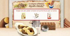 Indica quale tipo dicolazionepreferisci: merendine Kinder & Ferrero o Biscotti Mulino Bianco? Vinciuna fornitura Mulino Bianco o Kinder & Ferrero gratis per un anno