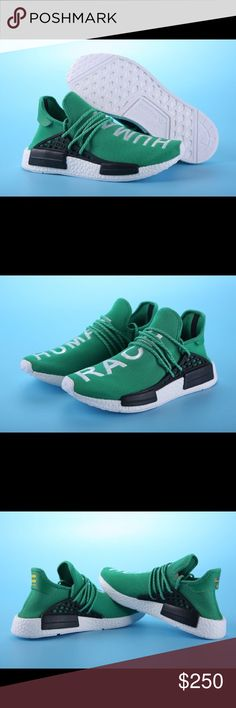 official photos 1ca59 89ae1 PW HUMAN RACE NMD (Green) Mens Size Best Replicas To Date! Get Them