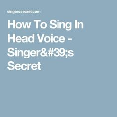 How To Sing In Head Voice - Singer's Secret #howtosingintune Singing Quotes, Singing Tips, Vocal Warm Up Exercises, Singing Exercises, Voice Singer, Breathe In The Air, Learning To Relax, Vocal Coach, Vocal Range