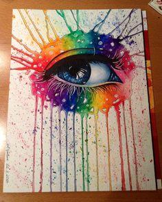 Rainbow Eye by DeadOceans.deviantart.com on @deviantART