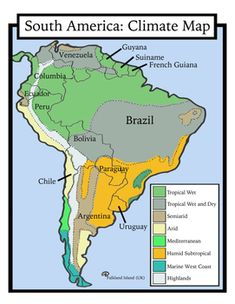 Blank Geography South America Maps Students Color