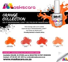 Colour Chart, Gel Polish Colors, Uv Led, My Nails, How To Apply, Colours, Collections, Orange, Color Charts