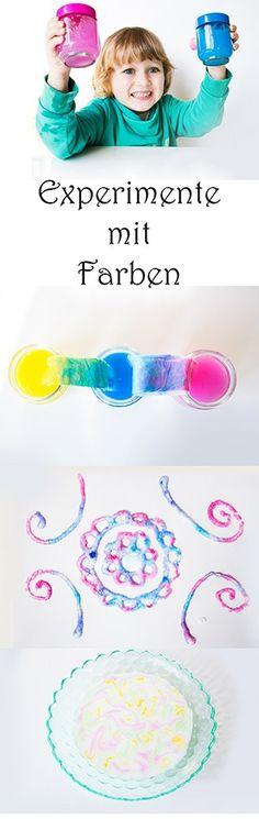 Experimente mit Farben für Kinder Pin