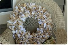 Tied Rag Wreath