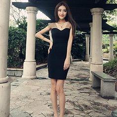 V-neck malha Partido das Mulheres Lace Fit Mini Vestidos – BRL R$ 23,26
