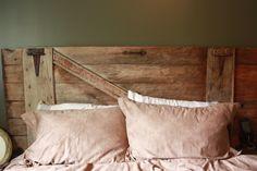 My 50 year old Barn Door Headboard