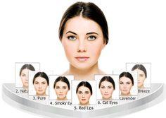 Makeovers: mulheres antes e depois da maquiagem.