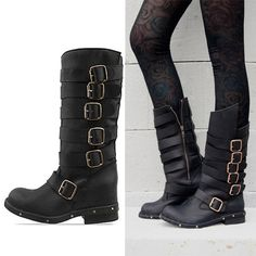 I NEED THESE BOOTS! New 2013 fashion jeffrey campbell cowhide vintage buckle women motorcycle boots genuine leather thick heel ankle boots plus size Jeffrey Campbell, Shoe Boots, Ankle Boots, Shoes Heels, Ugg Shoes, Carrie Bradshaw, Botas Boho, Boots Christmas Gifts, Womens Biker Boots