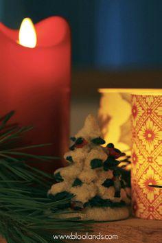 Décoration et lumières LED Bloolands pour une table chaleureuse. Bougie Led, Lumiere Led, Decoration Table, Artisanal, Gift Wrapping, Concept, Candles, Fabric, Gifts