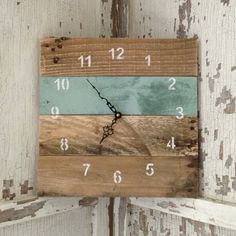 Reclaimed Pallet Wood Wall Clock 10 Color by fieldtreasuredesigns, $45.00