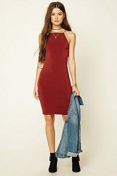 Square-Neck Bodycon Dress