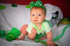 Magically Delicious St. Patrick's Day baby photo