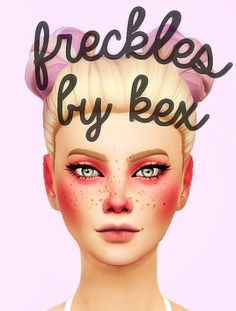 Sims 4 CC's - The Best: Freckles by Kexacek